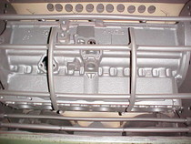 degreased engine block